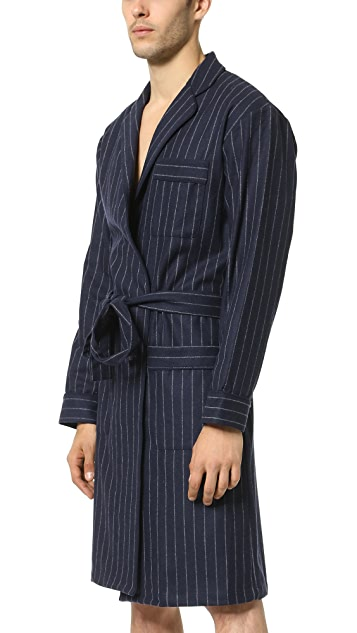Sleepy Jones Adams Wool Chalk Stripe Robe