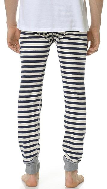 Sleepy Jones Keith Rugby Stripe Long Johns