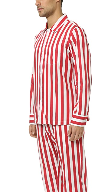 Sleepy Jones Henry Tent Stripe Pajama Shirt