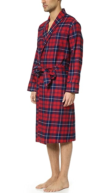 Sleepy Jones Glenn Flannel Plaid Robe