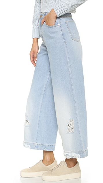 SJYP Destroyed High Rise Jeans