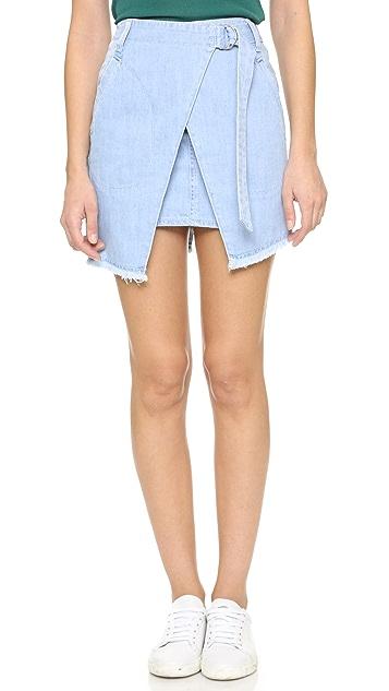 74dda4e6832f SJYP Denim Wrap Skirt   SHOPBOP