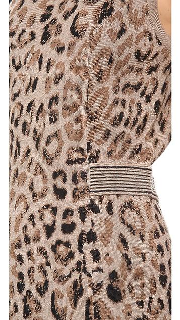 Skaist Taylor Leopard Cutout Dress