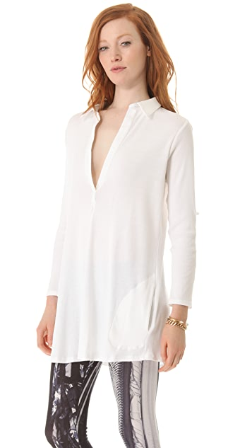 Skin Placket Tunic Top
