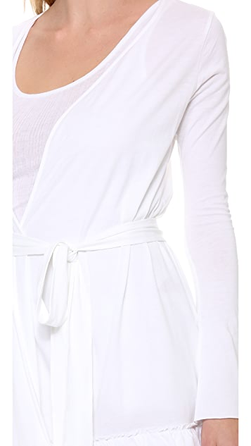Skin Ruffle Robe