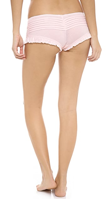 Skin Pleated Shorty Panties