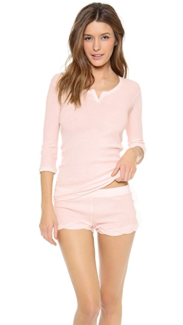 Skin Cotton Waffle Shorts