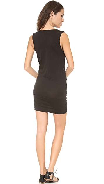 Skin Drape Front Dress