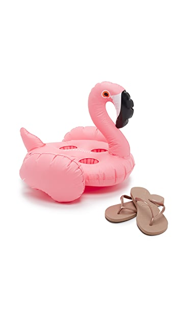 SunnyLife Inflatable Flamingo Drink Holder