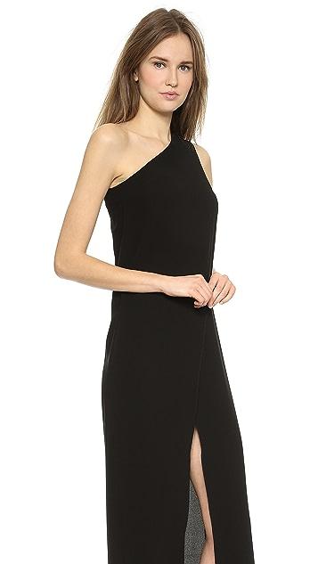 Solace London Bourdan One Shoulder Maxi Dress