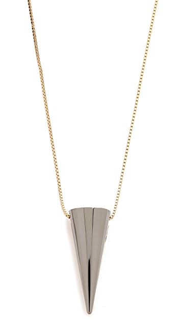 Sarah Magid Large Metal Cone Pendant Necklace