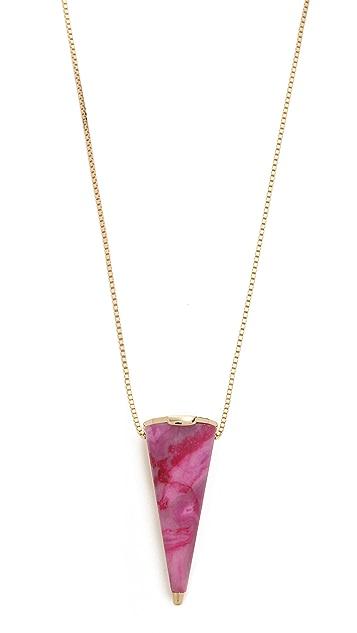 Sarah Magid Pink Agate Reversible Cone Pendant