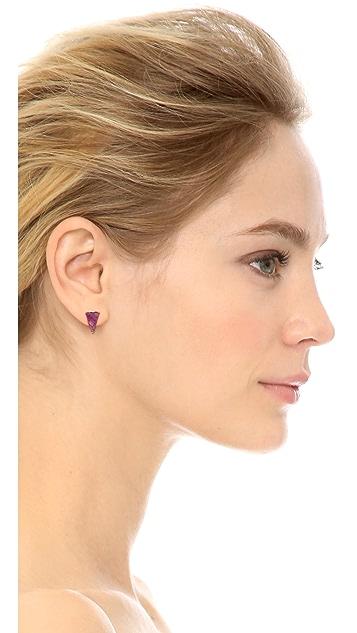Sarah Magid Mini Crazy Agate Cone Stud Earrings
