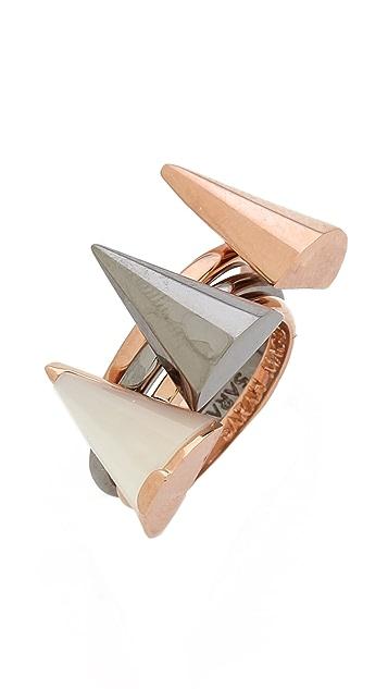 Sarah Magid Mini Mother of Pearl Cone Rings