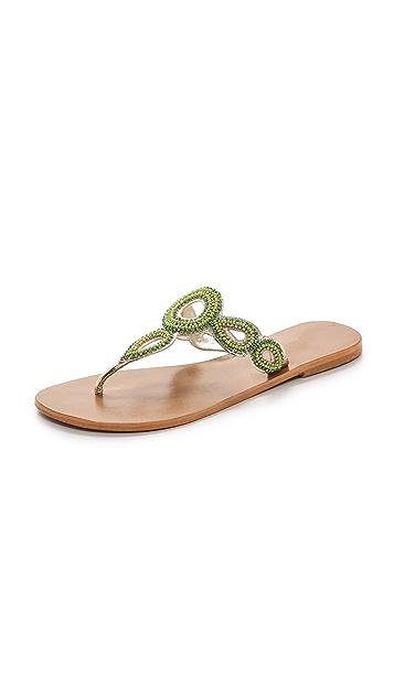 Star Mela Moni Beaded Sandals