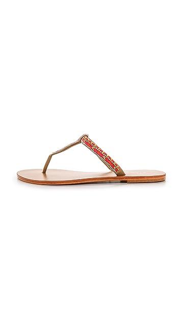 Star Mela Tabby Beaded Thong Sandals