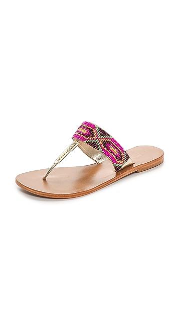 Star Mela Kelli Beaded Thong Sandals