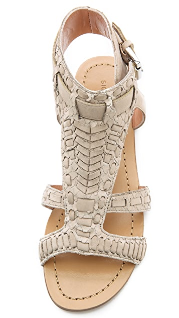 Sigerson Morrison Kappa Woven Flat Sandals