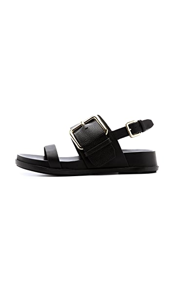 Sigerson Morrison Solar Two Band Buckle Sandals