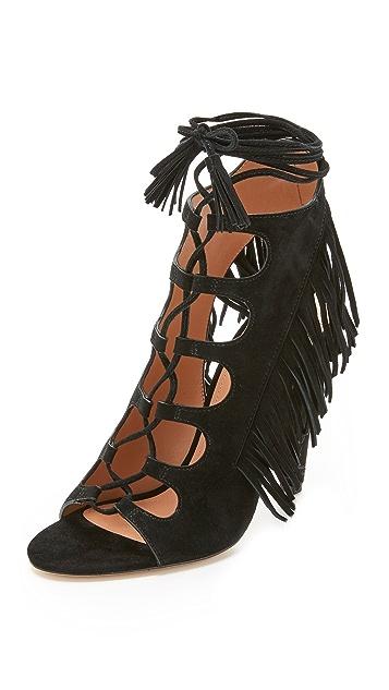 Sigerson Morrison Marita Fringe Heel Sandals