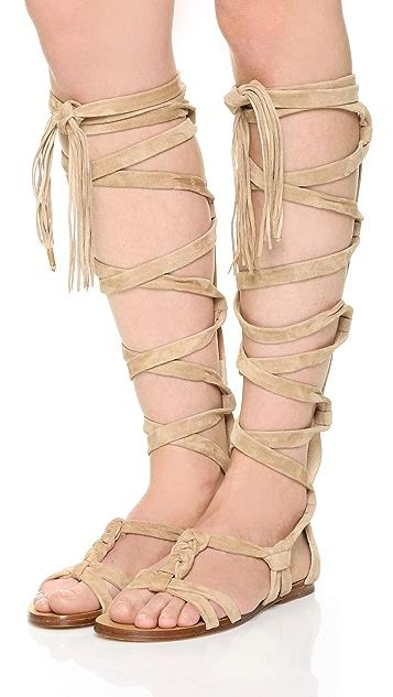 Sigerson Morrison Boni Suede Gladiator Sandals