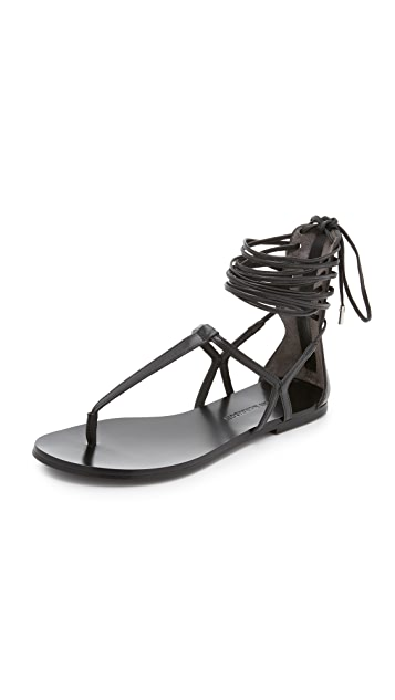 Sigerson Morrison Braze Thong Sandals