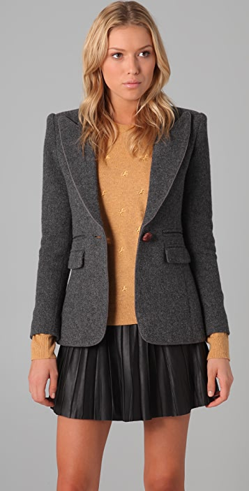 SMYTHE Piped Blazer