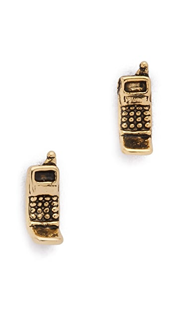 SNASH JEWELRY '90s Flip Phone Earrings