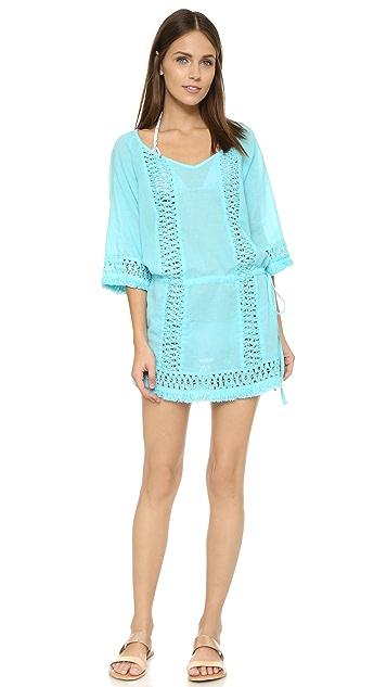 SOFIA by ViX Blue Lagoon Crochet Caftan