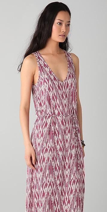 Soft Joie Emilia Ikat Zigzag Maxi Dress