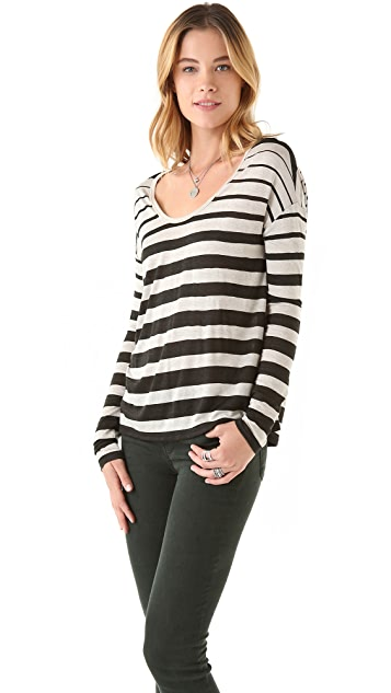 Soft Joie Gilda Variegated Stripe Top