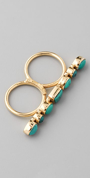 Soixante Neuf Turquoise Double Knuckle Ring