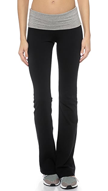 SOLOW Contrast Fold Over Pants