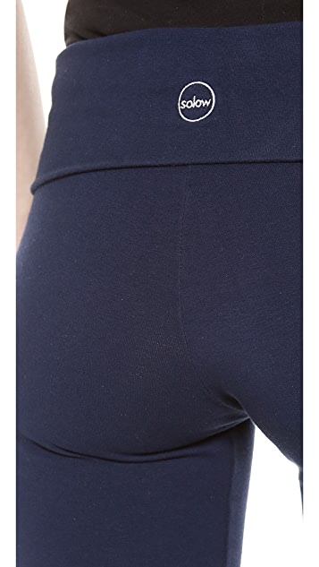 SOLOW Jersey Long Fold Over Leggings