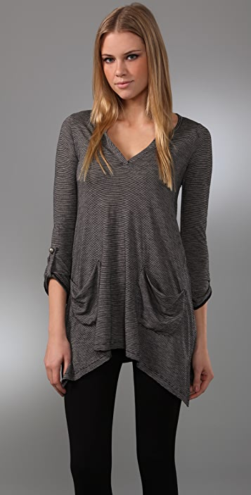 SOLOW Slouch Stripe Tunic
