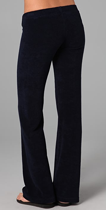 SOLOW Button Front Tab Pants