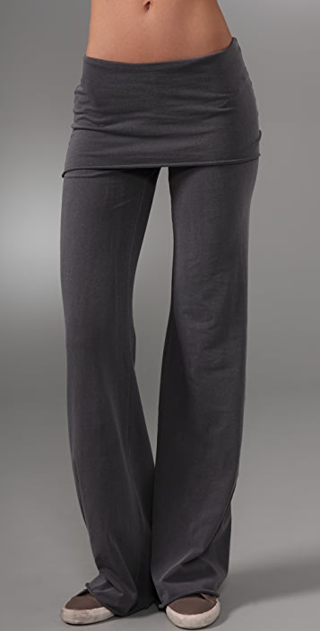 SOLOW Feather Jersey Wide Leg Pants