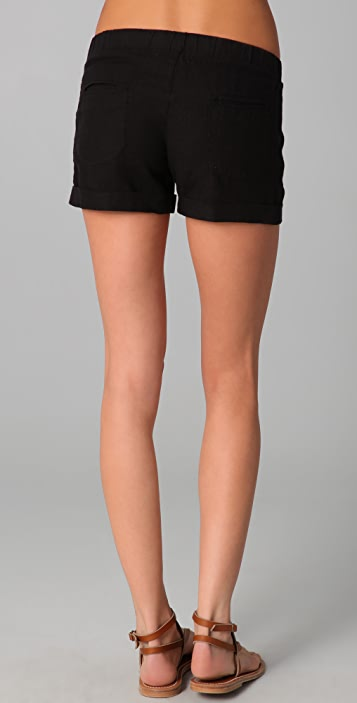 SOLOW Linen Cuffed Shorts