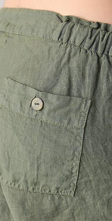 SOLOW Linen Cargo Shorts