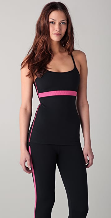 SOLOW Workout Cami with Mesh Piecing