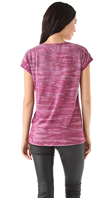 SOLOW Scoop Neck Pocket Tee