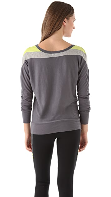 SOLOW Colorblock Dolman Top