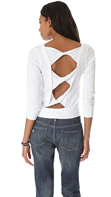 SOLOW Back Twist Sweatshirt