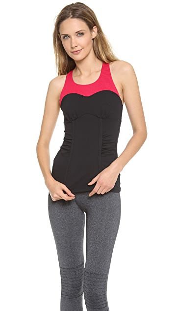 SOLOW Contrast Racer Back Tank