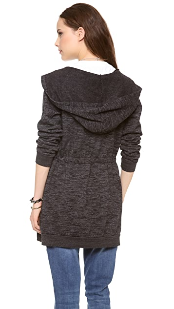 SOLOW Hooded Tunic with Drawstring