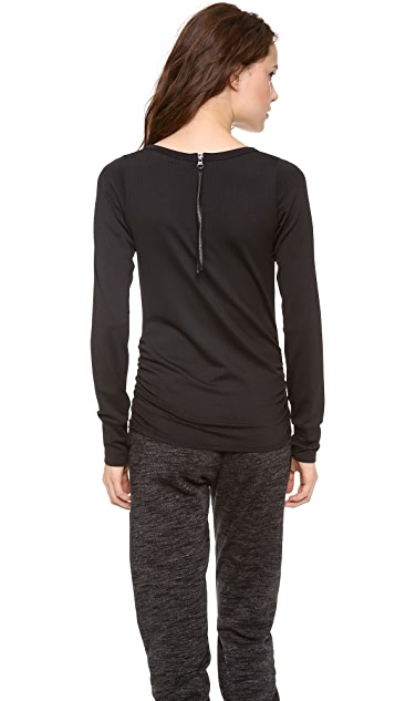 SOLOW Mesh Running Top