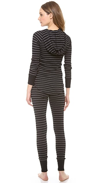 SOLOW Hoodie & Button Up Leggings PJ Set