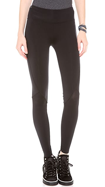SOLOW Diamond Quilt Mesh Leggings