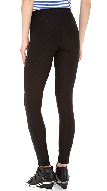 SOLOW Quilted Legging with Patch Pockets