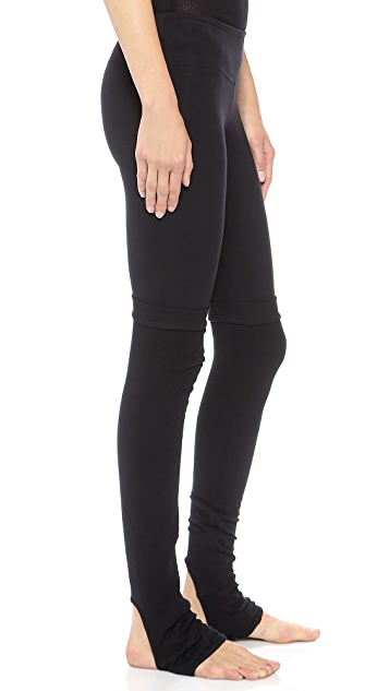 SOLOW Foothole Leggings with Thermal Legwarmers